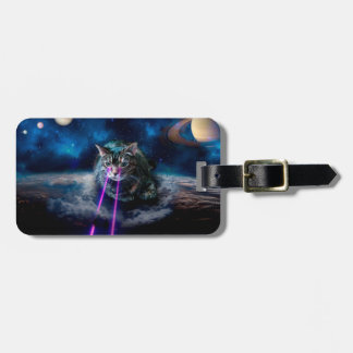 Cat laser eyes - Cats in space Luggage Tag