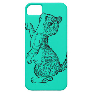 Cat looking at the camera of the phone iPhone 5 cases