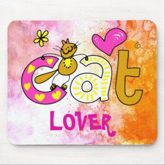 Cat Lover Cartoon Cuteness Mouse Pad