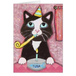 Cat Lover Girl's Birthday Card
