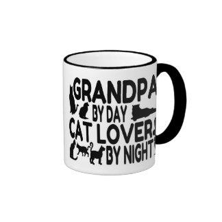 Cat Lover Grandpa Ringer Mug