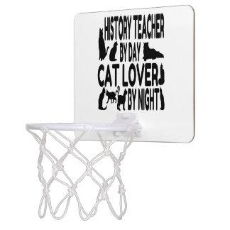 Cat Lover History Teacher Mini Basketball Hoop