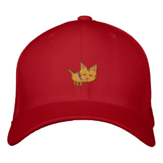 Cat Lover Kitty Cleaning Embroidered Hat