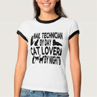 Cat Lover Nail Technician T-Shirt