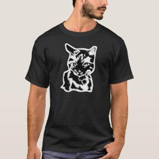 Cat Men's Black T-Shirt