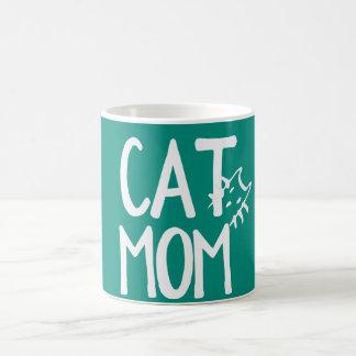 Cat Mom Peeking Cat Mug