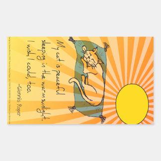 Cat Nap haiku Rectangular Sticker