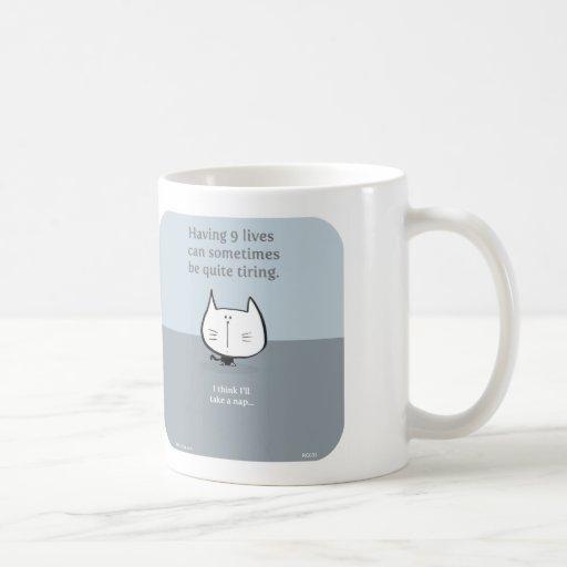 cat, nine lives, 9 lives, tiring, nap, cute cat mugs