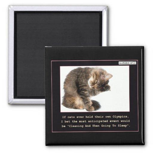 Cat Olympics Magnet