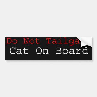 Cat On Board Bumper Sticker