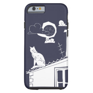 cat on the roof tough iPhone 6 case