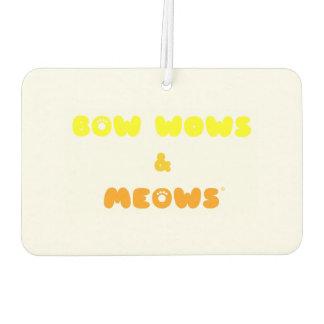 Cat or dog? Bow Wows & Meows FUNNY cartoon! Car Air Freshener