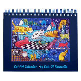 Cat Paintings Calendar 2018 by Cats of Karavella
