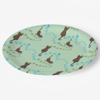 cat paper plates 9 inch paper plate