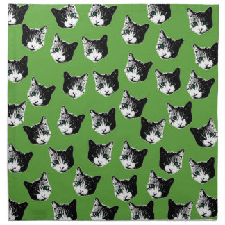 Cat pattern napkin