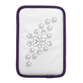 Cat Paw Print Teddy Bear Sleeve For iPad Mini