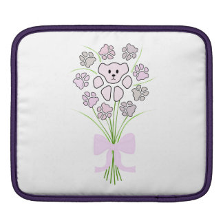 Cat Paw, Teddy Bear Bouquet Sleeves For iPads