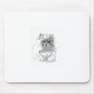 Cat, pen-and-ink drawing mouse pad