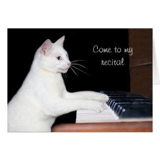 Cat piano recital card