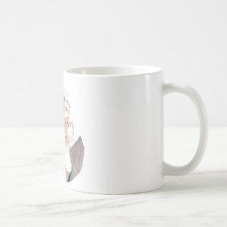 Cat playing basic white mug