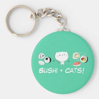 Cat plus Sushi equals Cuteness! Key Chain