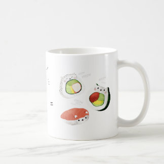 Cat plus Sushi equals Cuteness! Mugs