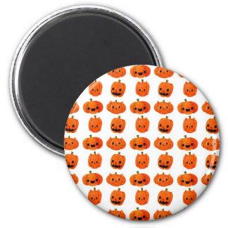 Cat Pumpkin Head Pattern 6 Cm Round Magnet