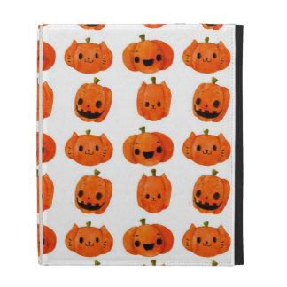 Cat Pumpkin Head Pattern iPad Folio Case