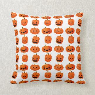 Cat Pumpkin Head Pattern Pillows