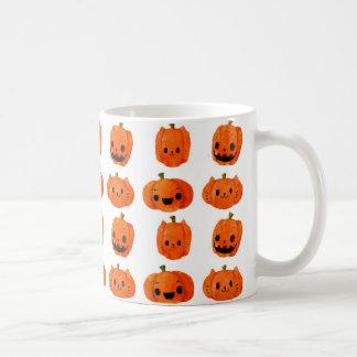 Cat Pumpkin Head Pattern Basic White Mug
