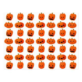 Cat Pumpkin Head Pattern Post Card