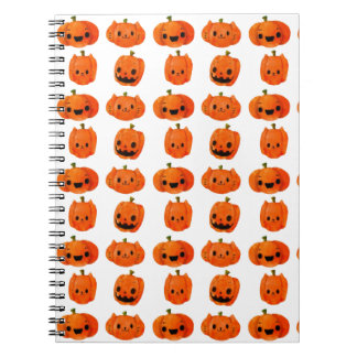 Cat Pumpkin Head Pattern Spiral Note Book