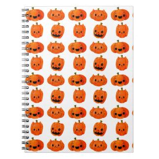 Cat Pumpkin Head Pattern Spiral Note Book