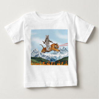Cat Riding A Tiger Baby T-Shirt