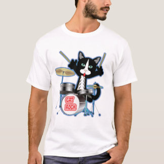 Cat Rock Drums T-Shirt