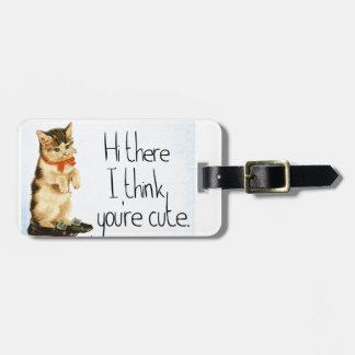 Cat Saying Luggage Tag