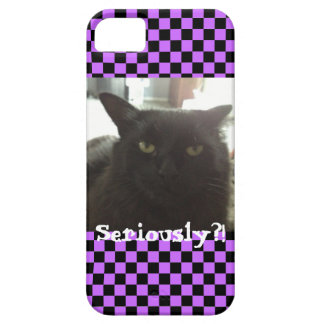 "Cat ""Seriously?!"" Mimi iPhone 5/5S Case iPhone 5 Cases"