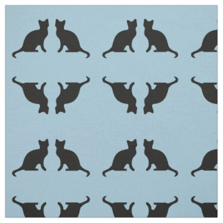 Cat Silhouette Fabric