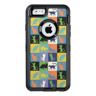 Cat Silhouette Quilt Squares in Vintage Colors OtterBox iPhone 6/6s Case