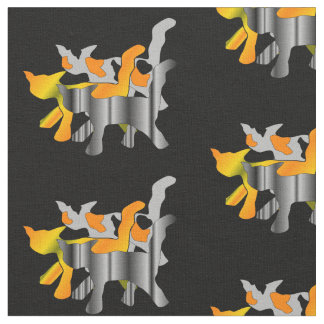 Cat Silhouettes Fabric