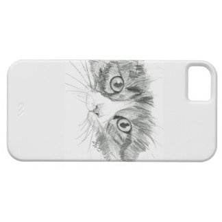 cat sketch iPhone 5 cover