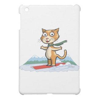 Cat Snowboarder iPad Mini Cover