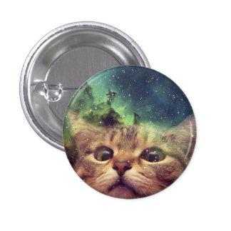 Cat Staring into Space 3 Cm Round Badge