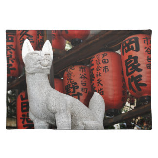 Cat statue in Tokyo, Japan Placemat