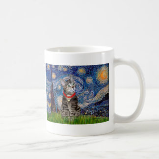 CAT Tabby2 - Starry Night Mug
