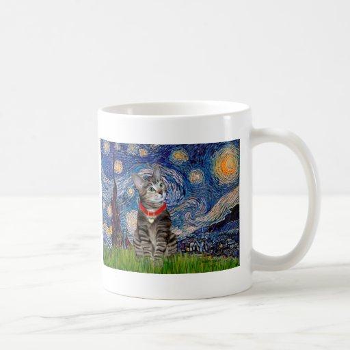 CAT (Tabby2) - Starry Night Mug