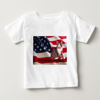 Cat Todler T-Shirt God Bless America