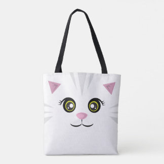 Cat Tote - Gray Stripes
