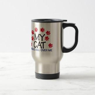 Cat Walks Paws Stainless Steel Travel Mug