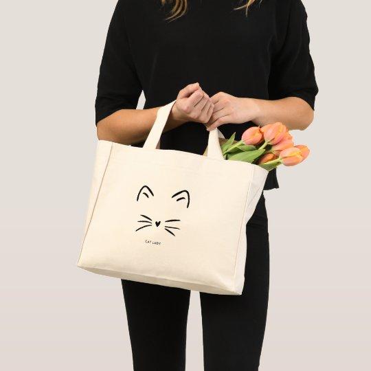 Cat Whiskers Mini Tote Bag
